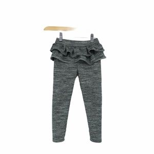 Baby gap grey leggings with frilly ruffled top 3T